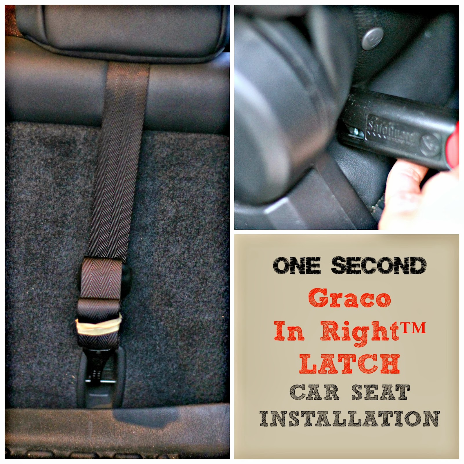 Recess Of The Seat As In My Car You Then Pull Strap To Secure Behind Headrest And Clip Onto Bar Super Simple Done No Time