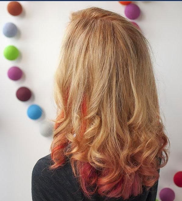 blonde hair with red underneath pictures
