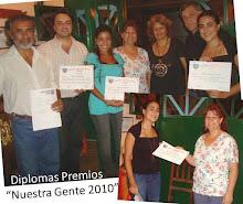 Diplomas premio Nuestra gente 2010