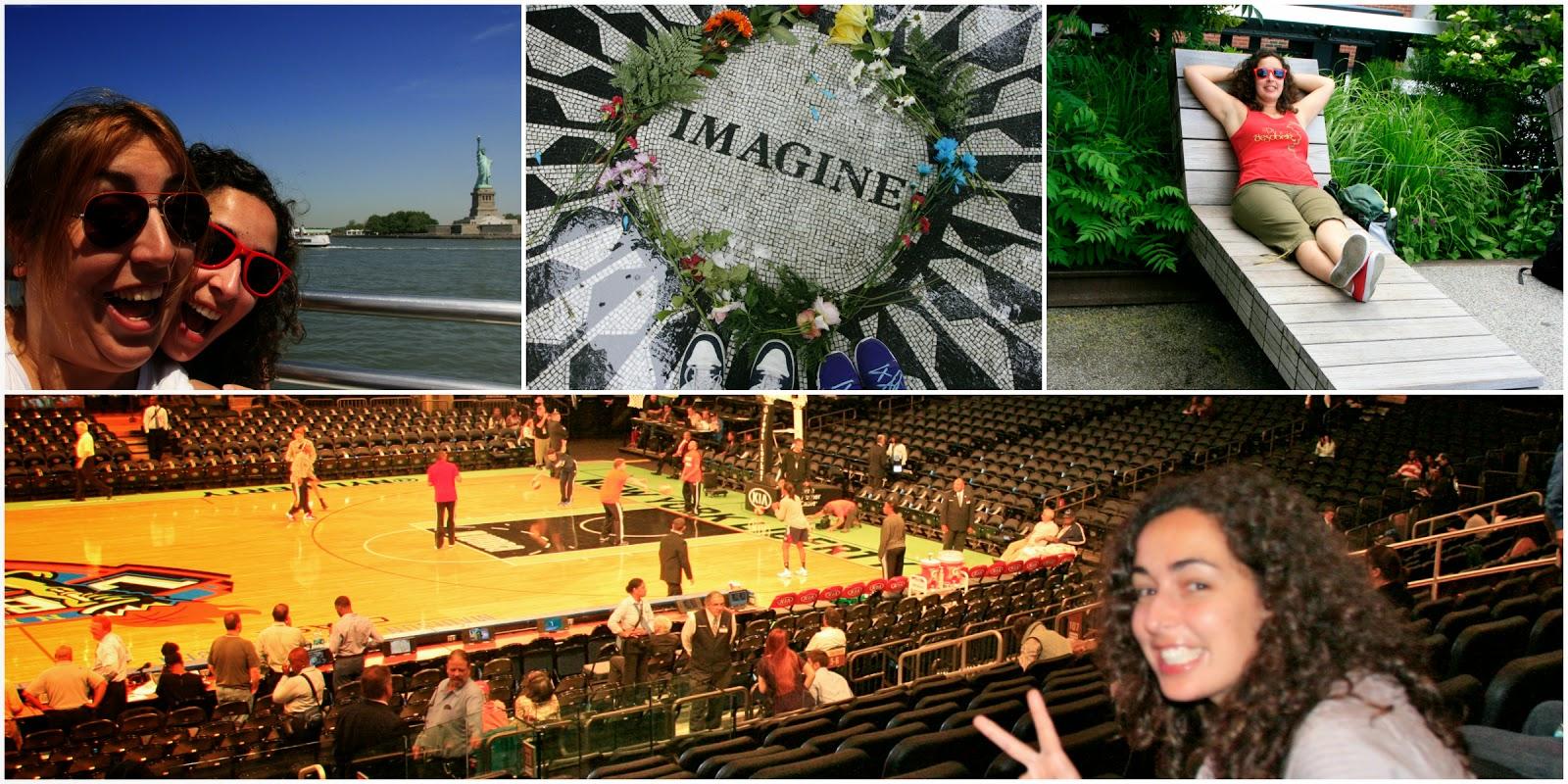 Què fer a Nova Tork? Creure pel Hudson per veure l'Estàtua de la Llibertat, visitar el tribut a John Lennon, passejar pel High Line Park, bàsquet al Madison Square Garden