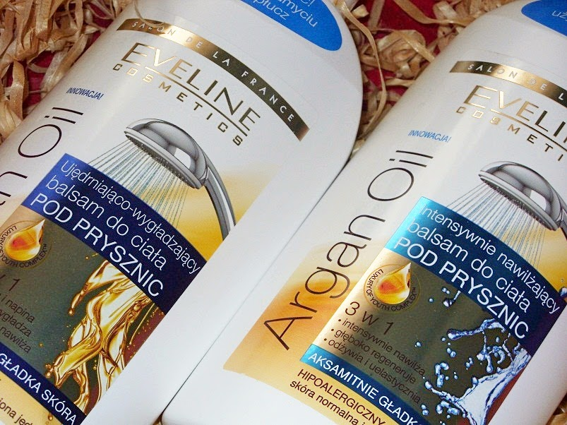Ujędrniająco-wygładzający oraz intensywnie nawilżający balsam do ciała pod prysznic Argan Oil Eveline