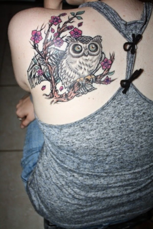 Owl Tattoo for Women on Shoulder