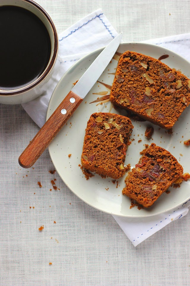 Spiced Molasses Bread with Dates, Walnuts + Olive Oil ⎮ happy hearted kitchen