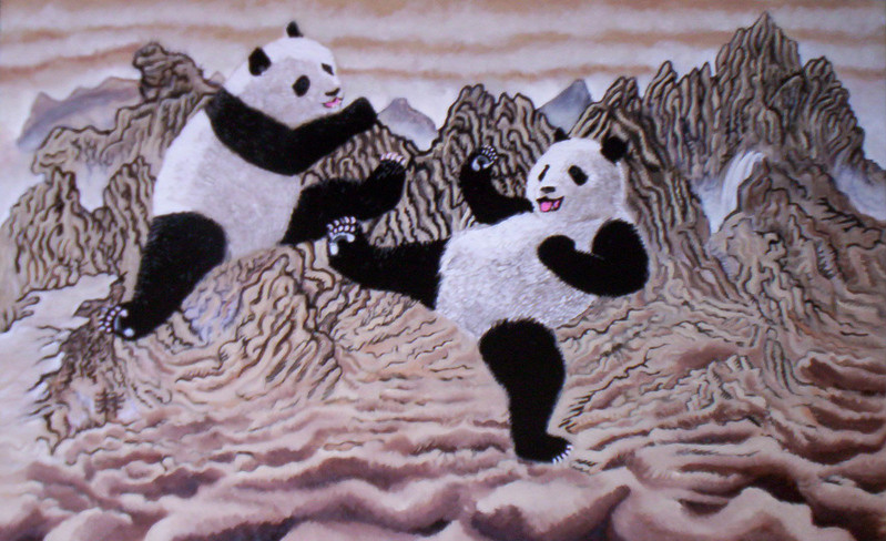 One Dumb Travel Bum: Panda-Fighting: watch and smile