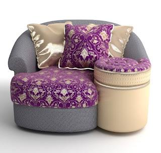 Upholstery modern pod chair