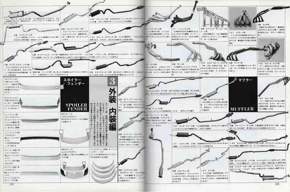 broszura, tuning, japońskie, JDM, unikalne, oryginalne, układ wydechowy, exhaust