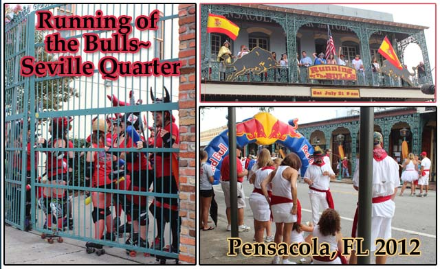 Running of the Bulls Pensacola, FL 2012