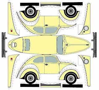 diseño de carrito de papel del Volkswagen
