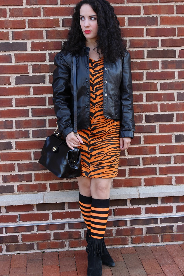 Orange Leopard Dress