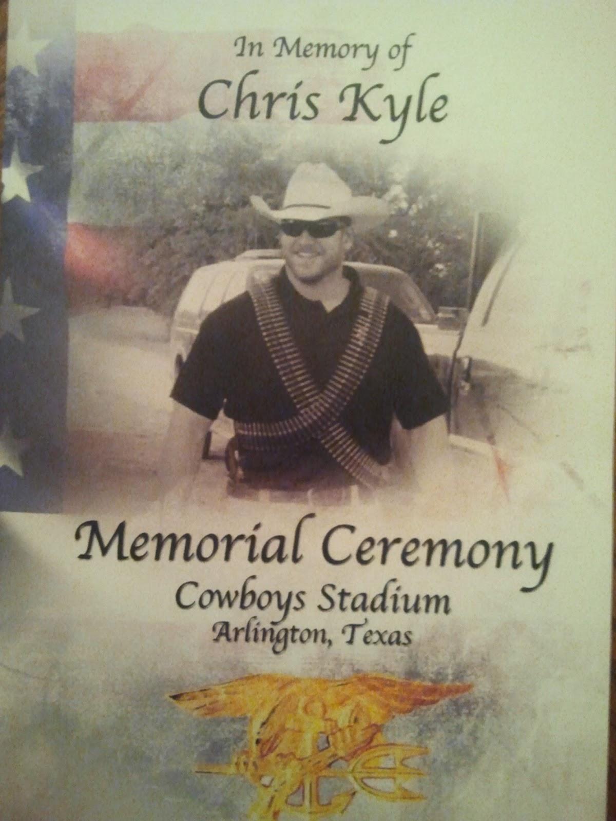 Under a red umbrella chris kyle memorial service february 11 2013