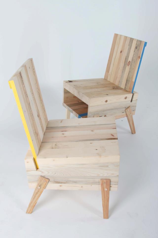 Madeira reciclada vira móveis criativos