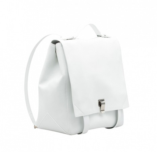 Proenza Schouler PS large backpack white leather