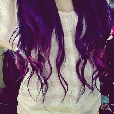 Fioletowe włosy !
