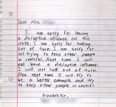 im sorry letters