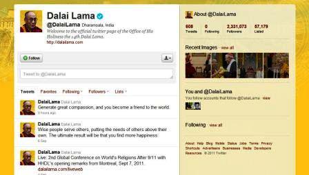 dalailama twitter