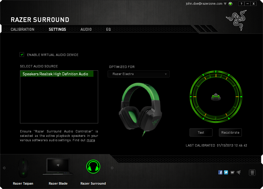 Download Razer Surroud 7.1 Secara Gratis dan Legal