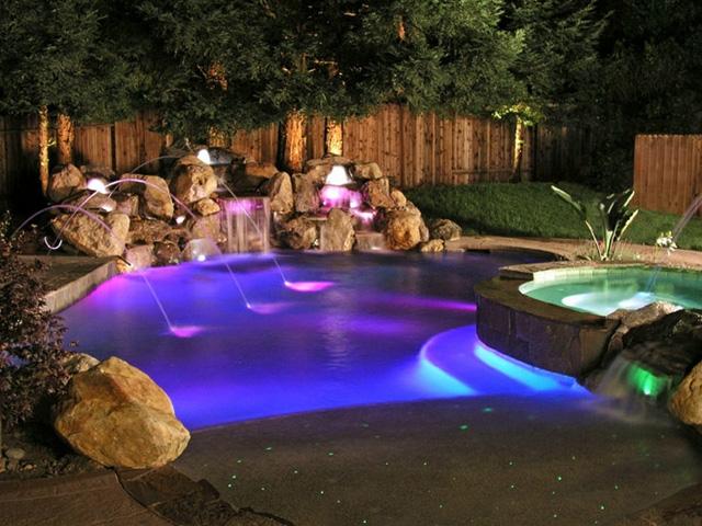 Glitter magic december 2011 for Swimming pool lighting options
