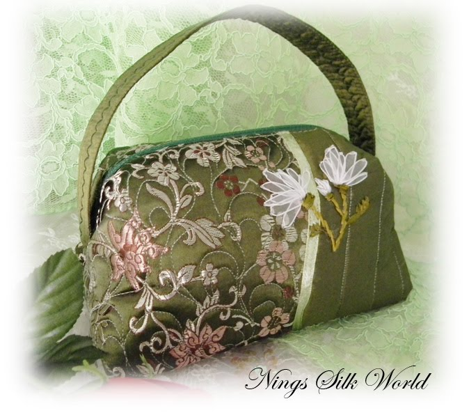 Ning s silk ribbon embroidery cosmetic bags
