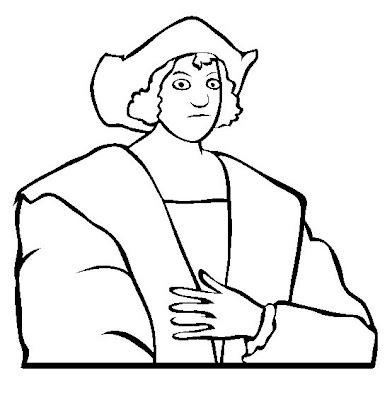 Dibujo de Cristobal Colon para colorear  Dibujo