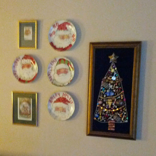 #thriftscorethursday Week 45 | Instagram user: tsfinds shows off this Wall of Chirstmas Art