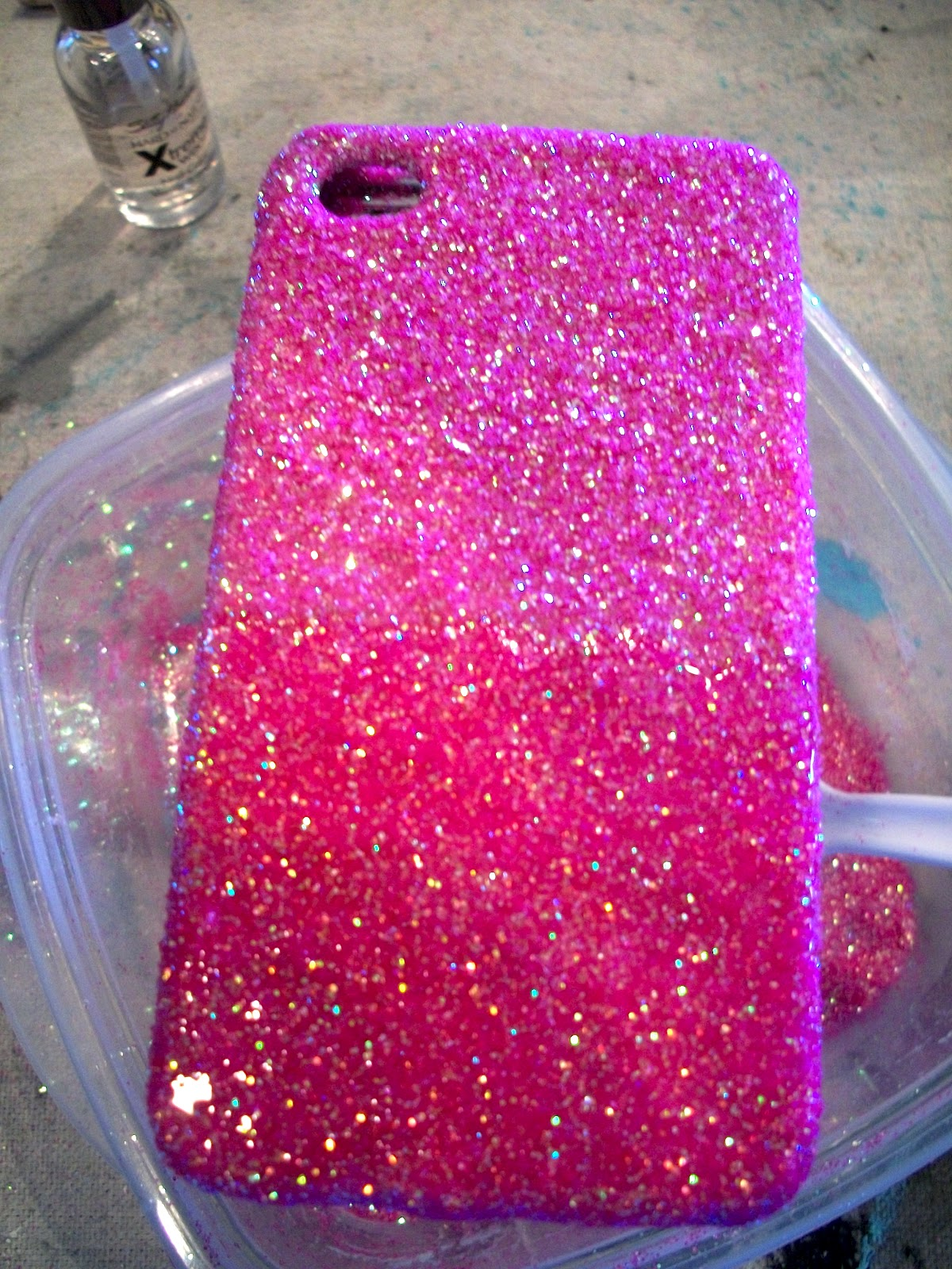 The Concrete Cottage: Glitter iPhone Case