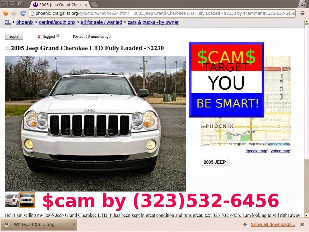 Vehicle Scams Google Wallet Ebay Motors Amazon Payments Ebillme A Map Of Wiring For 2005 Jeep Grand Cherokee Scam Ads Updated 02 25 2014