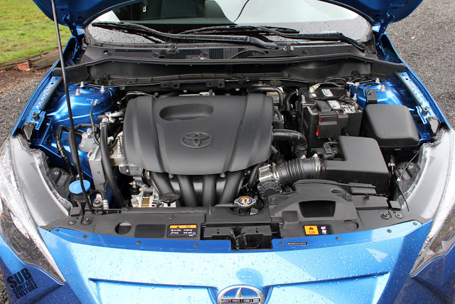 The Scion iA engine bay
