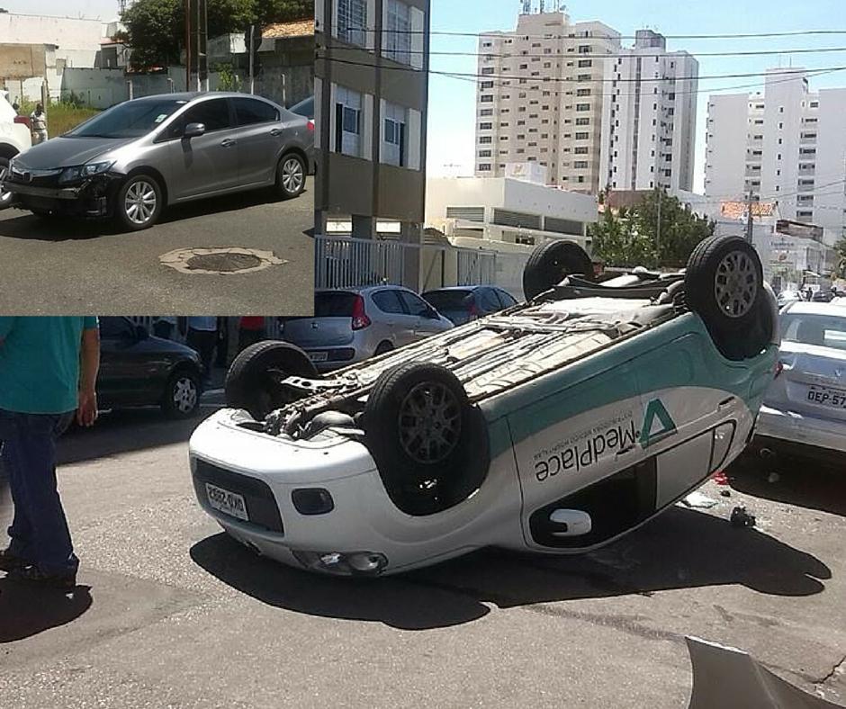 Condutor avança preferencial e causa capotamento em Aracaju