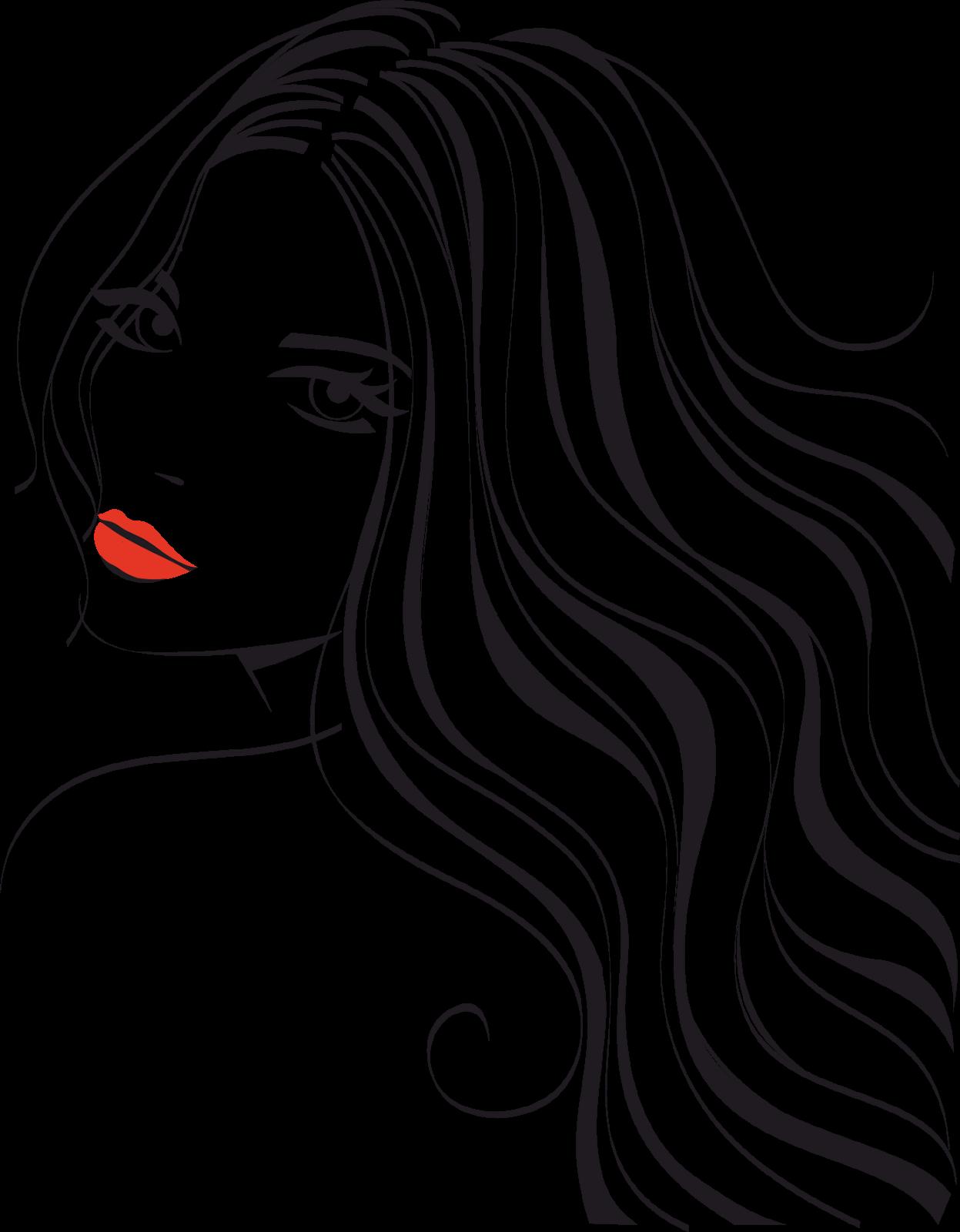 Рисунок девушка с прической
