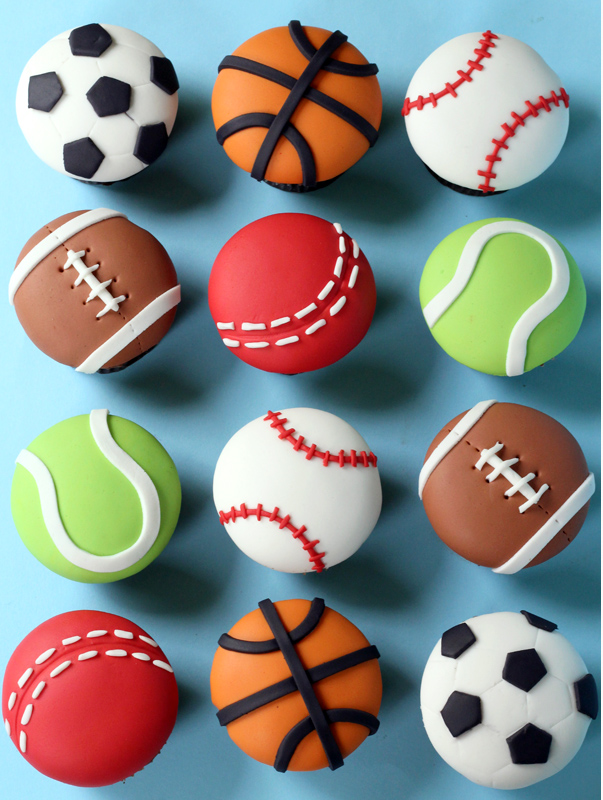 Sports Ball Cupcakes 603 x 800