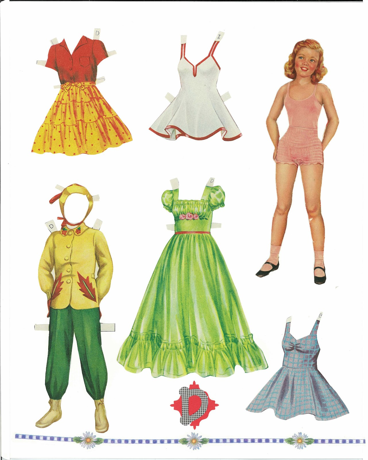 Miss Missy Paper Dolls: Sweetheart paper dolls cut
