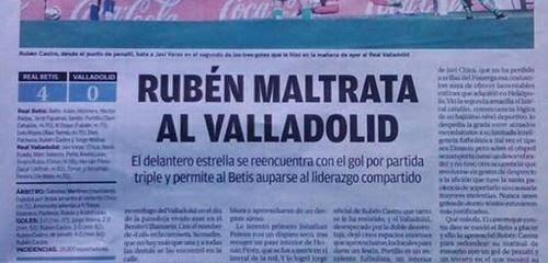 Titular La Razón Betis Valladolid vergonzoso