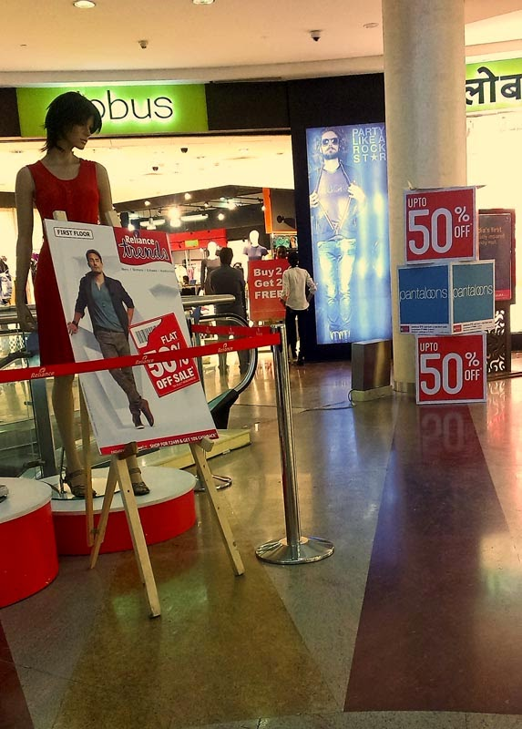 Sales in a mall
