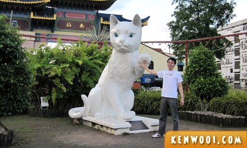 kuching cat statue high 5