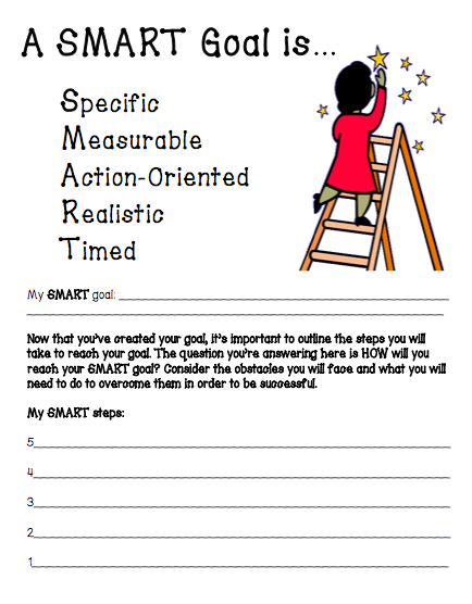Worksheet Smart Goal Worksheet For Students miss lifesaver student smart goals with a freebie we worked our way through each step of goal citing examples and non for then practiced putting it all together