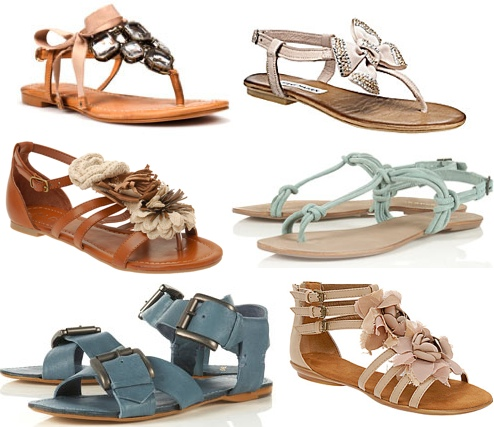 7a93aa2950a9 Zara- Jewel and Chain Sandals-  90. Gianni Bini- Bow Sandals-  80. Aldo-  Heng Flower Ornament Sandals-  60. Topshop- Mint Tubular Suede Sandals-  75