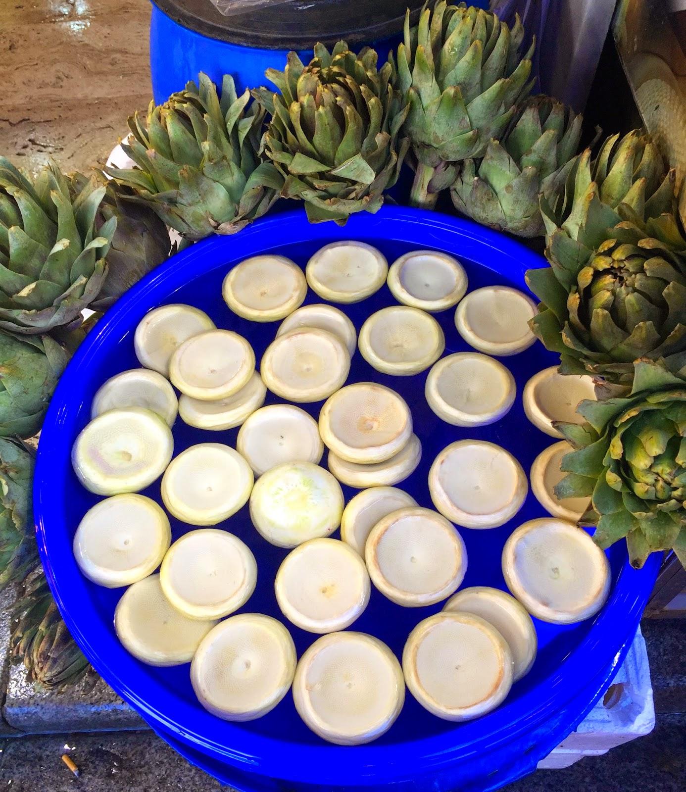 artichoke bottoms, spice market, istanbul