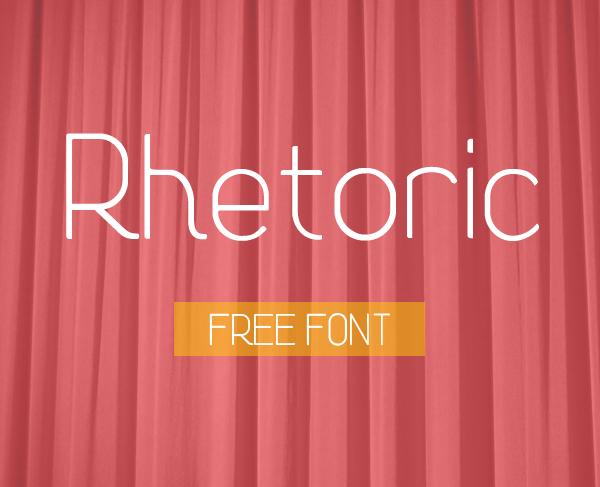 Font Terbaru Untuk Desain Grafis - Rhetoric Free Font
