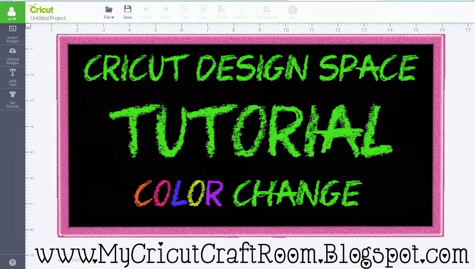 My Cricut Craft Room Cricut Design Space Color Changing