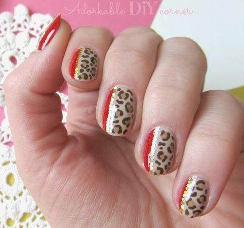 Diy Snow Leopard Nail Art: Adorkable DIY Corner: * CLASSY LEOPARD * Nail Art Tutorial