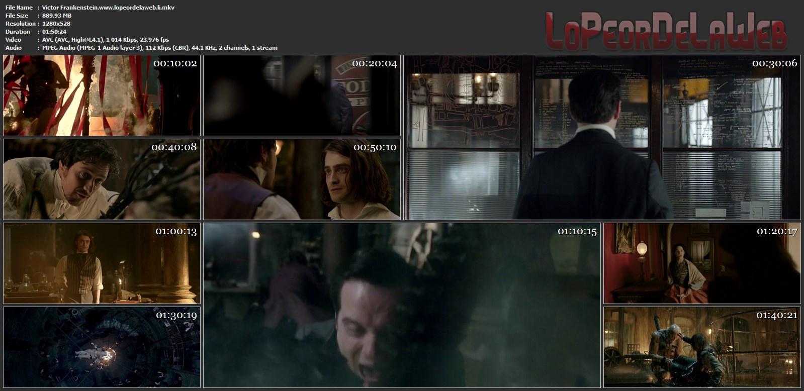 Victor Frankenstein (2015) 720p Latino [Mega]