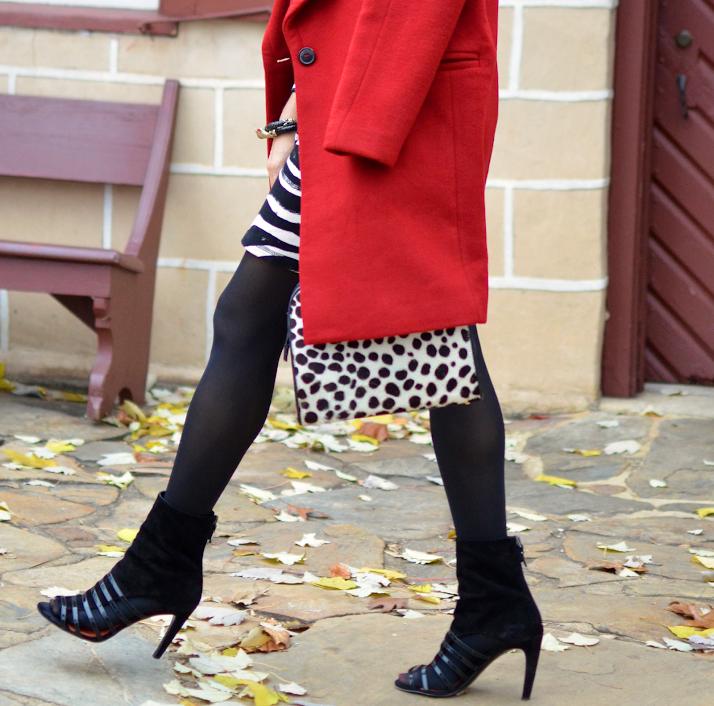 Leopard print bag outfit