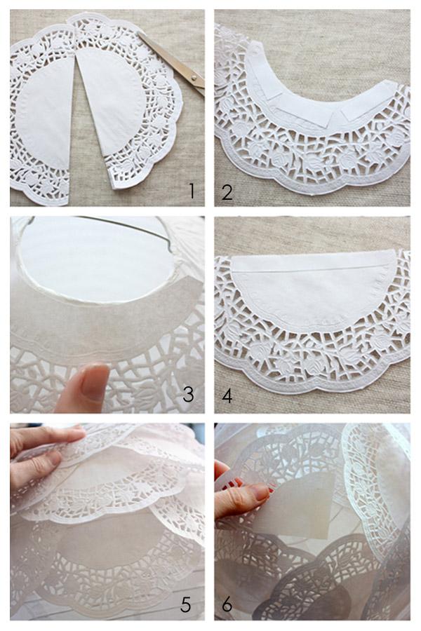Cómo se hace lámpara con blondas de papel
