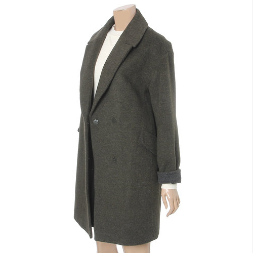 Double Breasted Notch Lapel Coat