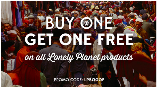 Codigo promocional Lonely Planet