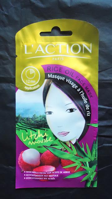 L'action Paris: Masque visage à l'huile de riz et au litchi