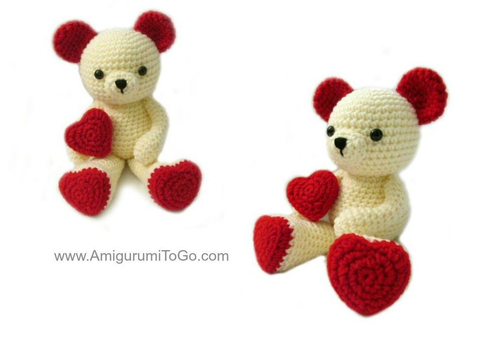 Amigurumi To Go Valentine Bear : Amigurumi To Go