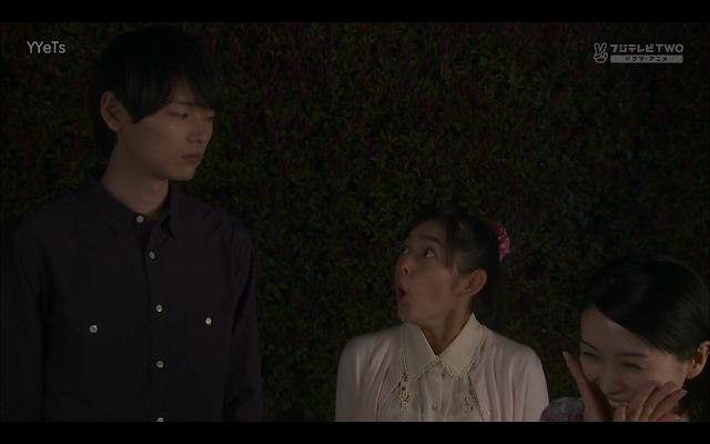 """Kotoko pleads - """"I didn't tell!"""" Naoki looks unimpressed."""