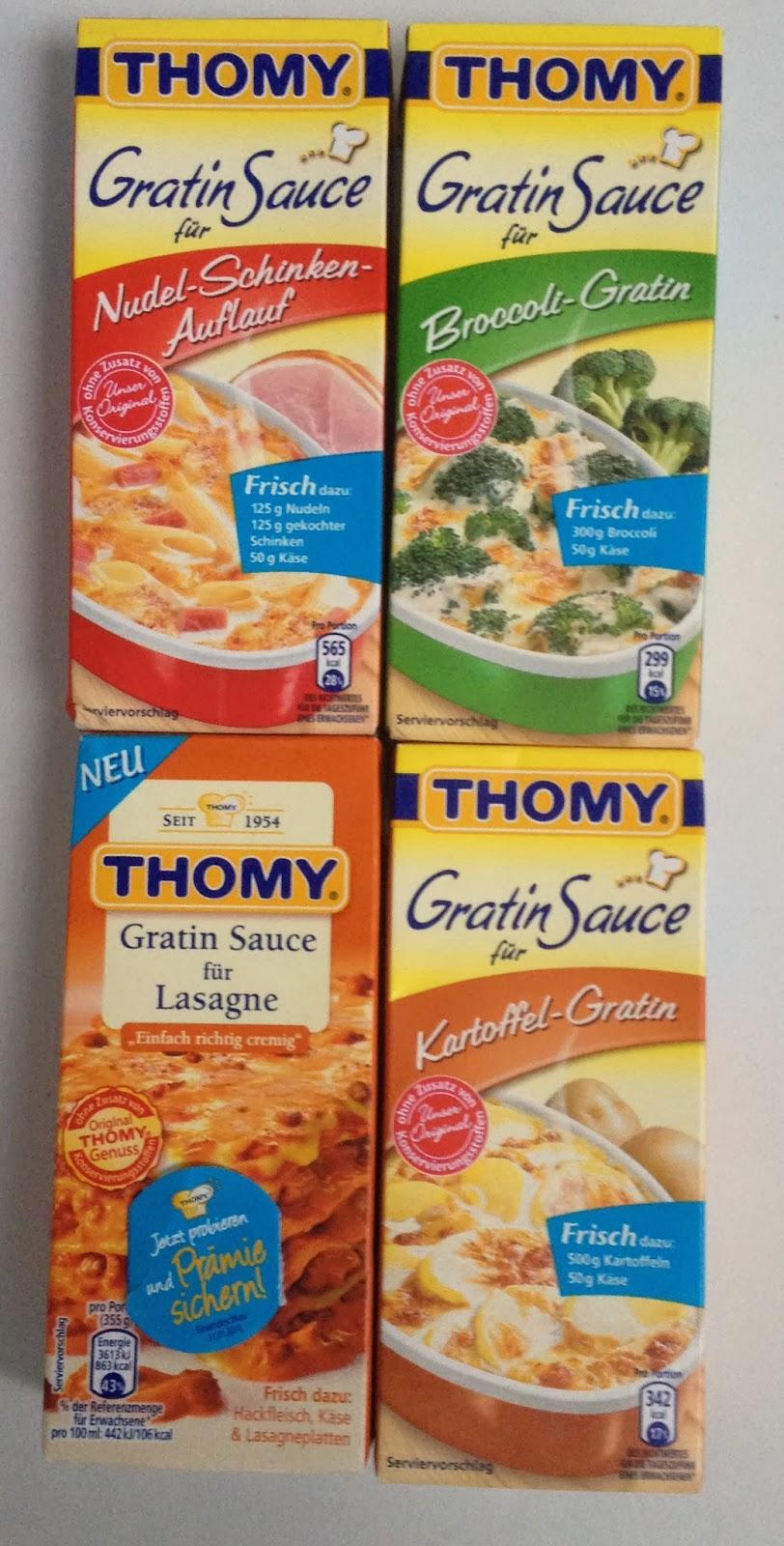 Nudel-Schinken-Auflauf; Brokkoli-Gratin; Gratin Sauce für Lasagne; Kartoffel-Gratin