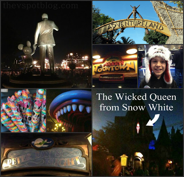 disneyland, partner's statue, adventure land, peter pan's flight, wicked queen, candy